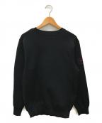 BRIEFING(ブリーフィング)の古着「ミラノリブ切替ニット」 ブラック
