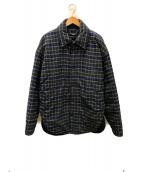 ()の古着「シャツジャケット」 ブルー