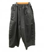 ordinary fits(オーディナリーフィッツ)の古着「ワイドパンツ」|ライトグレー