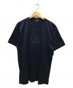 GIORGIO ARMANI(ジョルジョアルマーニ)の古着「フロントロゴtシャツ」|ネイビー