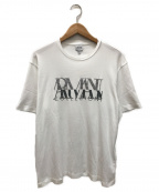ARMANI COLLEZIONI(アルマーニ コレツィオーニ)の古着「ロゴTシャツ」 ホワイト