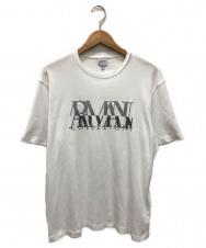 ARMANI COLLEZIONI (アルマーニ コレツィオーニ) ロゴTシャツ ホワイト サイズ:XL
