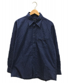()の古着「ドットシャツ」|ネイビー