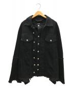 ()の古着「レイヤードデニムジャケット」|ブラック