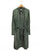 marimekko(マリメッコ)の古着「シャツワンピース」|グリーン
