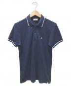 DIOR HOMME(ディオール オム)の古着「ワンポイント刺繍ポロシャツ」 ネイビー