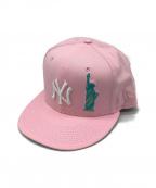 New Era(ニューエラ)の古着「キャップ」|ピンク