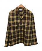 Graphpaper(グラフペーパー)の古着「シャツジャケット」|ブラウン