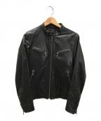 PS Paul Smith(PSポールスミス)の古着「シングルライダースジャケット」|ブラック