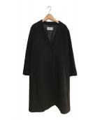 ()の古着「ウールVネックコート」 ブラック