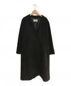 le.coeur blanc(ルクールブラン)の古着「ウールVネックコート」|ブラック