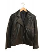 ()の古着「ラムレザーライダースジャケット」 ブラック