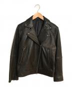 BARNYARDSTORM(バンヤードストーム)の古着「ラムレザーライダースジャケット」|ブラック