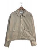 ()の古着「オーバーサイズカバーオールジャケット」 ベージュ