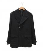 Paul Smith London(ポールスロンドン)の古着「ウールロングPコート」|ブラック