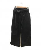 FRED PERRY × AKANE UTSUNOMIYA(フレッドペリー × アカネウツノミヤ)の古着「ベルト付パンツ」 ブラック
