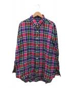 ()の古着「リネンオーバーサイズチェックシャツ」 マルチカラー