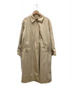 ()の古着「ステンカラーコート」 ベージュ