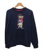 POLO GOLF RALPH LAUREN(ポロ ゴルフ ラルフローレン)の古着「ゴルフ ベア フリース スウェットシャツ」|ネイビー