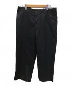TONE(トーン)の古着「Cotton twill wide trouser」|ブラック