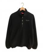 SUPREME()の古着「フリースアノラックジャケット」|ブラック