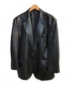 Paul Smith COLLECTION(ポールスミス コレクション)の古着「レザーテーラードジャケット」|ブラック