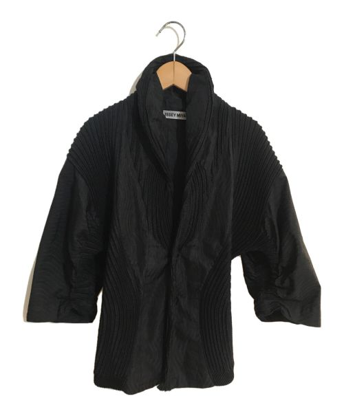 ISSEY MIYAKE(イッセイミヤケ)ISSEY MIYAKE (イッセイミヤケ) プリーツジャケト ブラック サイズ:2の古着・服飾アイテム