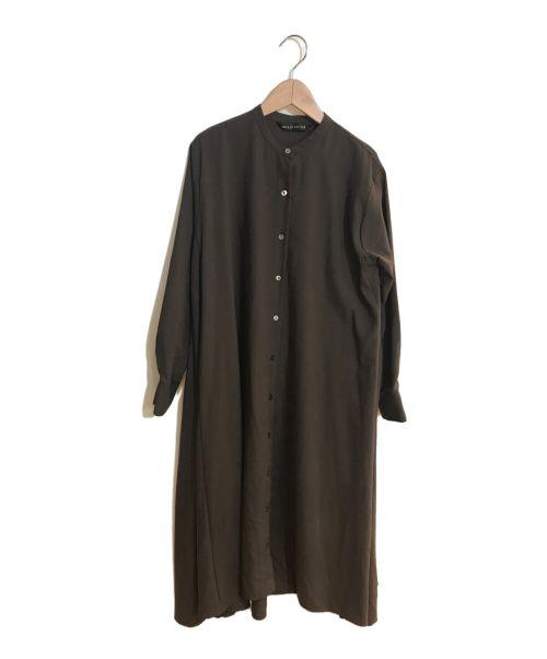 mizuiro-ind(ミズイロインド)mizuiro-ind (ミズイロインド) フレアシャツワンピース ブラウン サイズ:FREEの古着・服飾アイテム