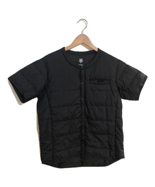 DECENT(デサント)DECENT (デサント) 半袖インナーダウンジャケット ネイビー サイズ:Lの古着・服飾アイテム