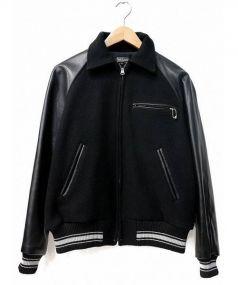 WESCO(ウェスコ)の古着「袖レザースタジャン」 ブラック