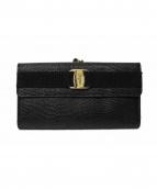 Salvatore Ferragamo(サルヴァトーレ フェラガモ)の古着「ガマ口長財布」|ブラック