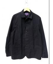 NEPENTHES(ネペンテス)の古着「ジャガードラペルカバーオール」 ブラック