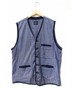 Porter Classic(ポータークラシック)の古着「クラシックベスト」|ブルー