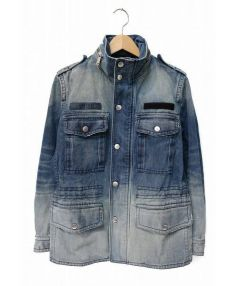DIESEL(ディーゼル)の古着「スタンドカラーデニムブルゾン」|インディゴ