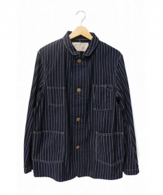 OLD JOE & Co.(オールドジョー)の古着「インディゴストライプカバーオール」|ネイビー