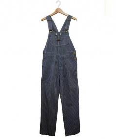 BIG SMITH(ビックスミス)の古着「70'Sヒッコリーオーバーオール」 ブルー×ホワイト