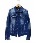 G-STAR RAW(ジースターロゥ)の古着「ペイント加工デニムジャケット」|インディゴ