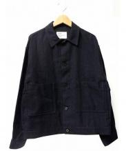 ALLEGE(アレッジ)の古着「KANOKO BLOUSON」|ネイビー