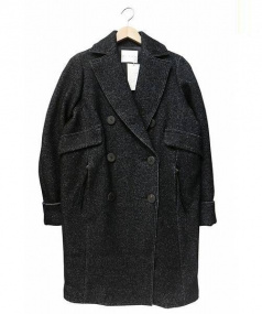 CINOH(チノ)の古着「ダブルチェスターコート」|ブラック