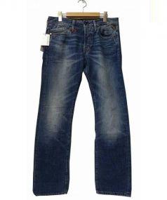 REPLAY(リプレイ)の古着「ウォッシュ加工デニムパンツ」|インディゴ