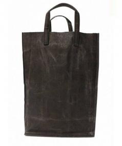 瀧川かずみ/KAZUMI TAKIKAWA(タキカワ カズミ)の古着「黒帆布図書館カバン」|グレー