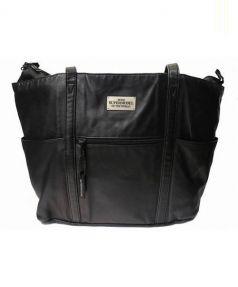 TUMI(トゥミ)の古着「レザートートバッグ」 ブラック