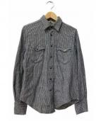 45R(45アール)の古着「藍染ウエスタンシャツ」 ネイビー