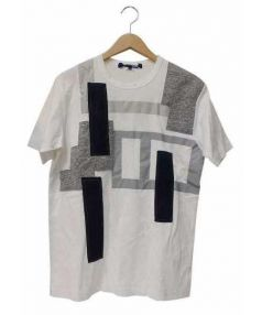 JUNYA WATANABE CDG(ジュンヤワタナベ コムデギャルソン)の古着「異素材パッチワークTシャツ」|ネイビー×ホワイト