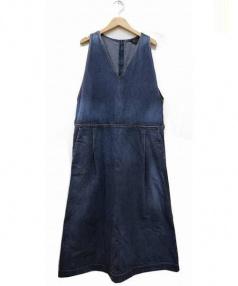 45R(45アール)の古着「カチン1000チンツジャンパースカート」|ブルー