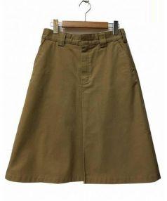 HYKE(ハイク)の古着「チノクロスミディスカート」|ブラウン