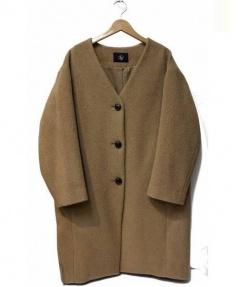 FRAMeWORK(フレームワーク)の古着「モッサVネックコート」 キャメル