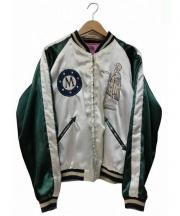 東洋TAILOR(トウヨウテーラー)の古着「リバーシブルスカジャン」|ピンク×グリーン