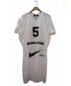 BLACK COMME des GARCONS(ブラックコムデギャルソン)の古着「フットボールジャージーロングカットソー」|ホワイト