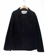 AUTREFOIS(オートレフォア)の古着「コーデュロイフレンチワークジャケット」|ネイビー